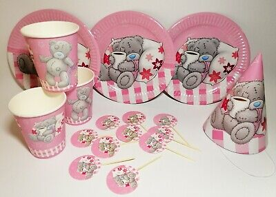 lies Plates Toppers Party Hats Cups Teddy Bear Set of 40 (Teddy Bear Party Supplies)