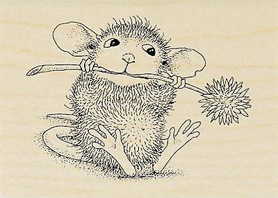 - Chive Chewing HOUSE MOUSE Wood Mounted Rubber Stamp STAMPENDOUS, NEW - HMH04