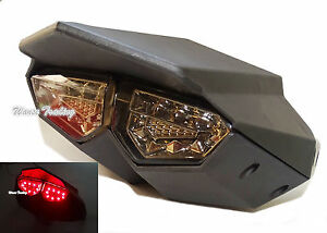 Black R6 Style Tail Turn Signals Integrated Light For YAMAHA Zuma BWS X-Over 125