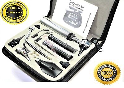 Ent Earnose Throat Diagnosticotoscopeophthalmoscope Set Wzipper Case New