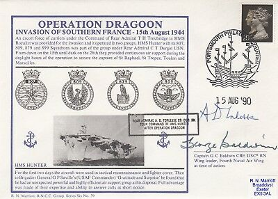HMS Hunter .Operation Dragoon Invasion of Southern France both in the action