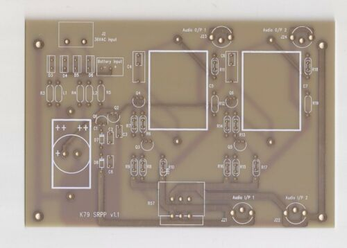 V-FET 2SK79 SRPP stereo preamp board based on Yasui design w/matched 2SK79 !