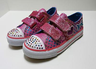 Zapatillas de niña con purpurina, color Fucsia(Nº25,27 y 30)