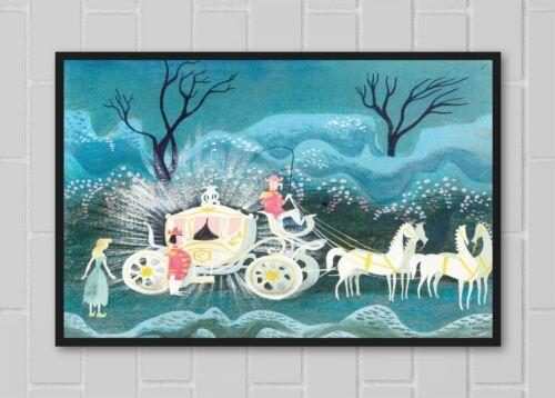 Cinderella Coach Mary Blair Poster Print 11x17