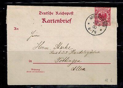 Ganzsachen D. Reich Kartenbrief K 6 3-teilig Meinberg und Göttingen  -int.89