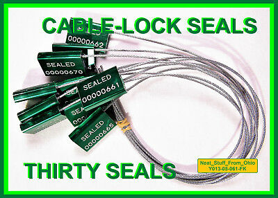 Cable-lock Security Seals Cargo Tanker Dark-green All-metal Thirty Seals