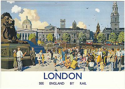 ROBERT  OPIE  ADVERTISING  POSTCARD  -  LONDON  -  SEE  ENGLAND  BY  RAIL