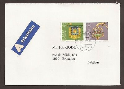 Switzerland 1992 Airmail cover. Pub signs stamps of 1982