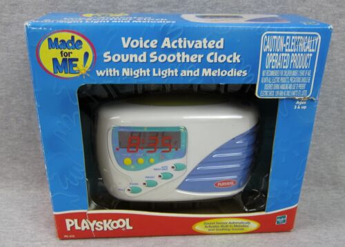 Playskool Voice Activated Sound Sother Clock w/ Night Light and Melodies 2000
