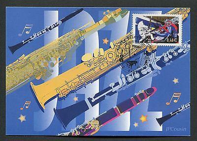 FRANCE MK 2002 MUSIK MUSIC SYDNEY BECHET MAXIMUMKARTE MAXIMUM CARD MC CM d4739