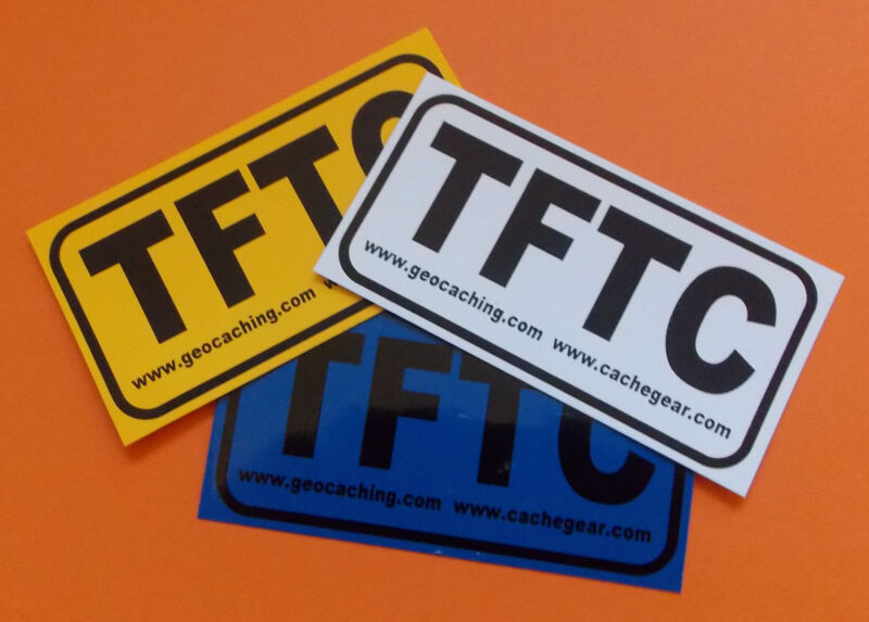 10 x TFTC stickers cache swaps for Geocaching