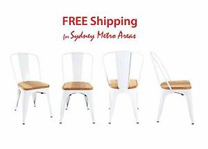 SALE - Xavier Pauchard Style Wood Seat Tolix Chair (Set of 4) Zetland Inner Sydney Preview