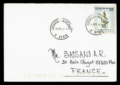 DR WHO 1998? BENIN COTONOU TO FRANCE  g16557