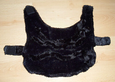 Hunde Halloween Spinnen Kostüm Schwarz Plüsch Gr. M Hundekostüm ()
