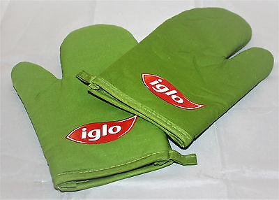 Iglo Paar Ofenhandschuh Backhandschuh 2x Kochen Backen Küche grün NEU & OVO