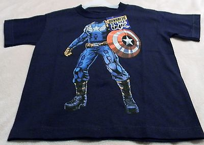 Capatain America Boy's T-shirt S M L And XXL Body And Shield Graphics On Front (Capatain America Shield)
