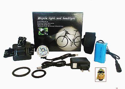 CREE T6 Lampada Bicicletta da testa FARETTO FARO LAVORO 3 modalità
