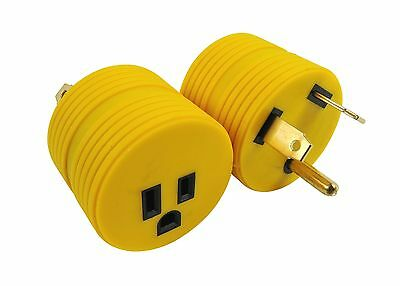 RV Electrical Adapter Plug 30AMP Male to 15AMP Female Motorhome Camper Round