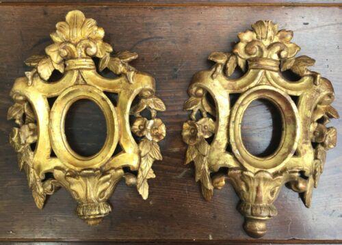 A Pair of 18th Century Venetian Giltwood Frames