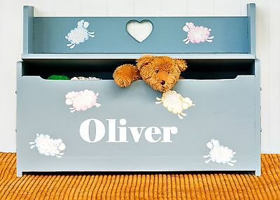 Boys or Girls Personalised Name Sticker / Decal for Toy Box