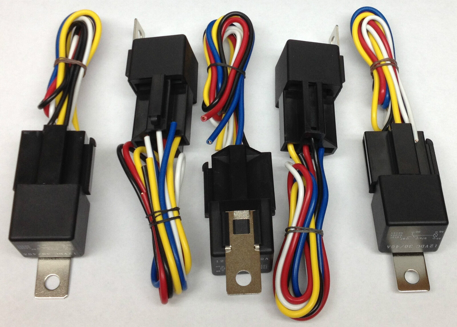 New Universal 12v 40a Spdt 5pin 12 Volt Dc Car Auto Truck Amp Relay 5 Pin 3 Of See More