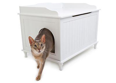 Designer Catbox Litter Box Enclosure in White