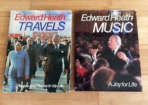 **REDUCED!!2 SIGNED FIRST EDITION BOOKS BY EDWARD HEATH**