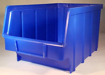 20 Stapelboxen PP Kunststoff Gr.3 blau Sichtlagerkästen Stapelkästen Lagerbox