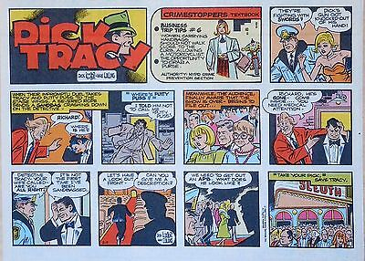 Dick Tracy by Dick Locher & Max Collins, lot of 23 color Sunday pages early 1988