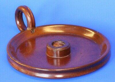 Vintage Turned Carved Treen Ware Wooden Candle Holder, 17cm *[16896]