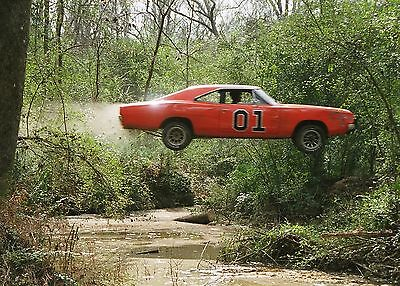 THE DUKES OF HAZZARD GENERAL LEE 8X10 GLOSSY PHOTO PICTURE