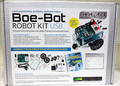 New Boe-bot Robot Kit Usb - Parallax Inc. - Basic Stamp 2 - Arduino