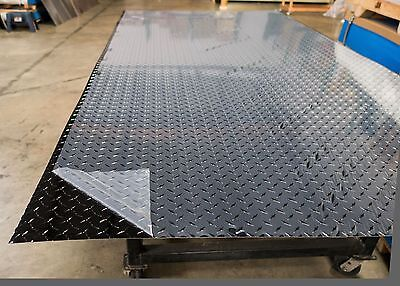 Black Aluminum Diamond Plate Sheet -1 Sheet - 0.032x48x96