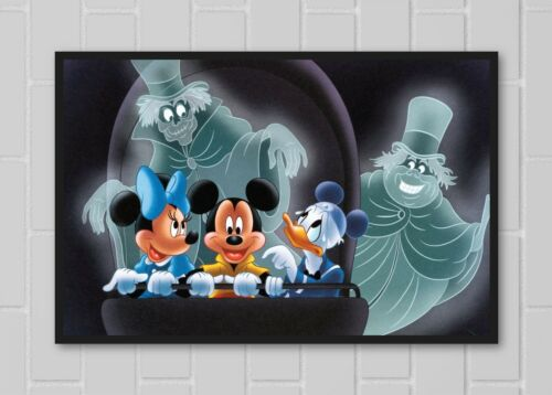 Haunted Mansion Mickey Donald Minnie Hitchhiking Ghost Doombuggy Poster