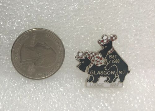 1987-88 Elks Lodge #1922 Glasgow Montana Pin