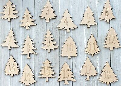 Pine Christmas Trees Sign Cabin Unfinished Wood Cutout Cut Out Shapes ALL SIZES - Unfinished Wood Signs