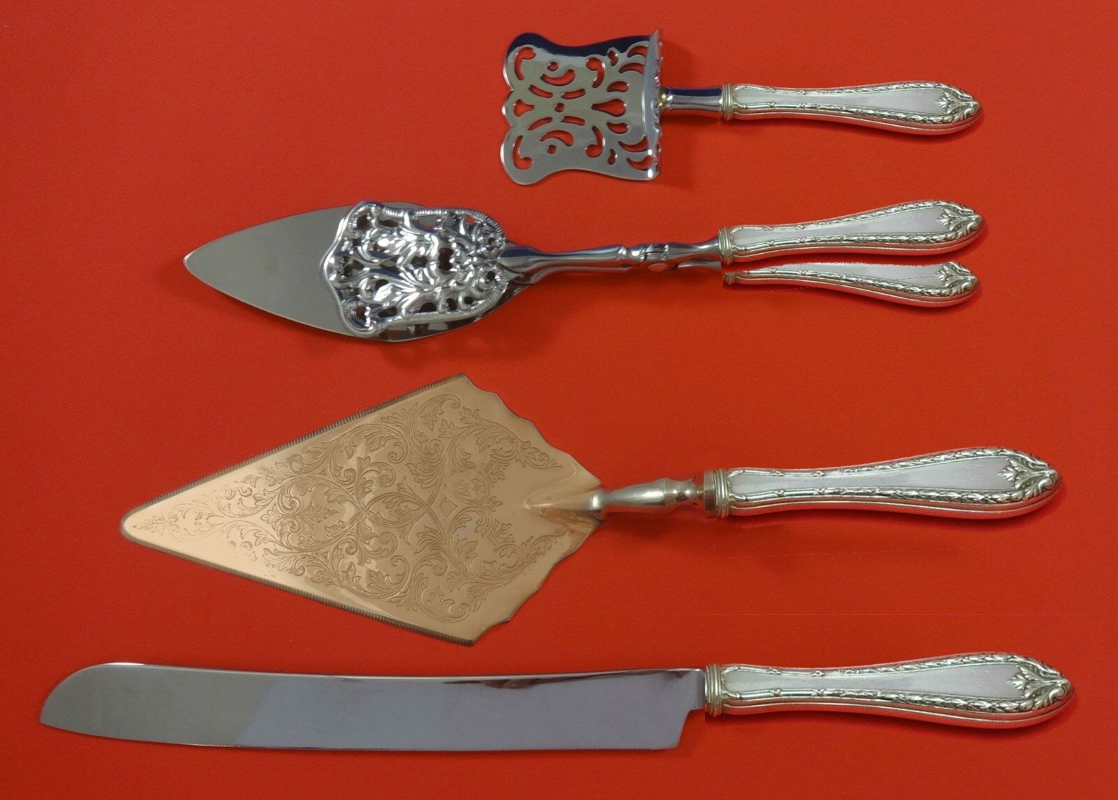Pointed Antique by Reed Barton Dominick Haff Sterling Silver Dessert Set Custom