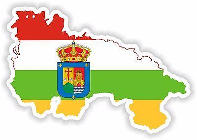 Sticker Silhouette La Rioja Spain Map Flag for Bumper Car Pegatina