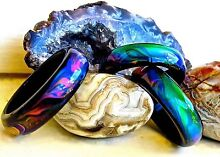 Genuine Black Agate Colour Changing Mood Ring !! + Free Gift Bag Bairnsdale East Gippsland Preview