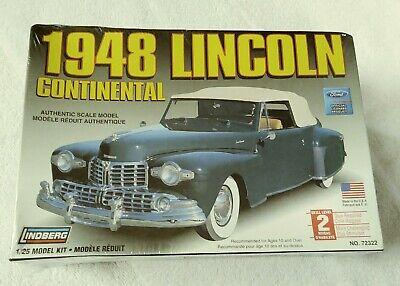 LINDBERG 1948 LINCOLN CONTINENTAL MODEL KIT #72322 NEW FACTORY SEALED 2006 NOS New Lincoln Continental