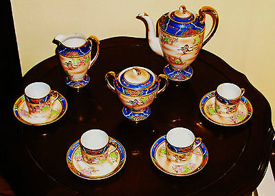 Rare Antique Tea / coffee Set Hand Painted Fine Porcelain – 1893-1923 Never Used