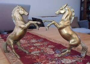 Two Antique Brass Horses Surfers Paradise Gold Coast City Preview