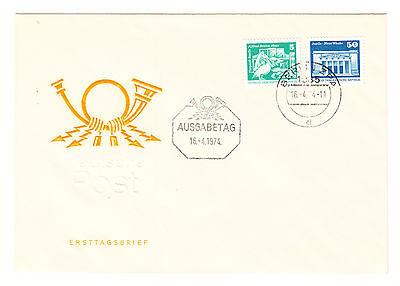 DDR  FDC Ersttagsbrief 1974 Aufbau der DDR Rollen Mi.Nr.1947+48