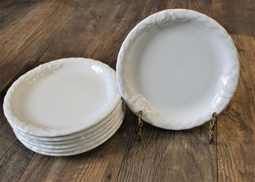 """Christian Dior French Country Rose Oyster White 8"""" Luncheon Salad Plates"""