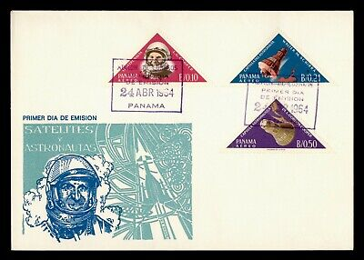 DR WHO 1964 PANAMA FDC SPACE CACHET TRIANGLE COMBO  g21849