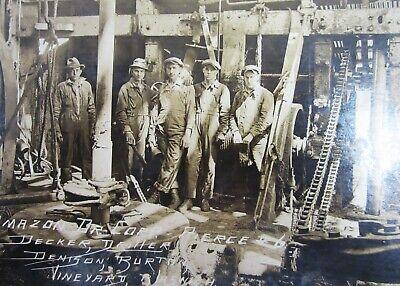 Vintage Oil Well Drilling Photo Roughnecks Amazon Corp Crew Pierce 6 Ca 1920s