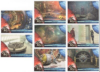 Guardians of the Galaxy The Sights Complete Set S1-S8 Trading cards