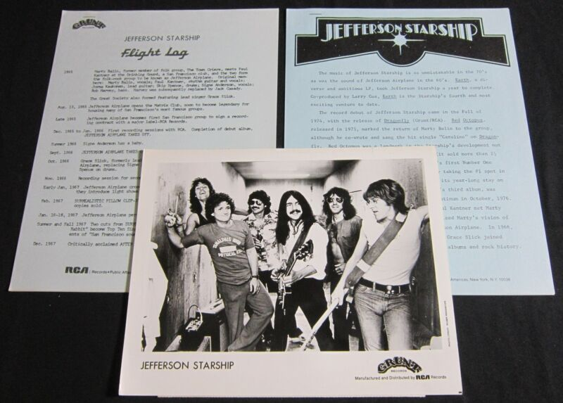 JEFFERSON STARSHIP—1978-79 PRESS MATERIALS