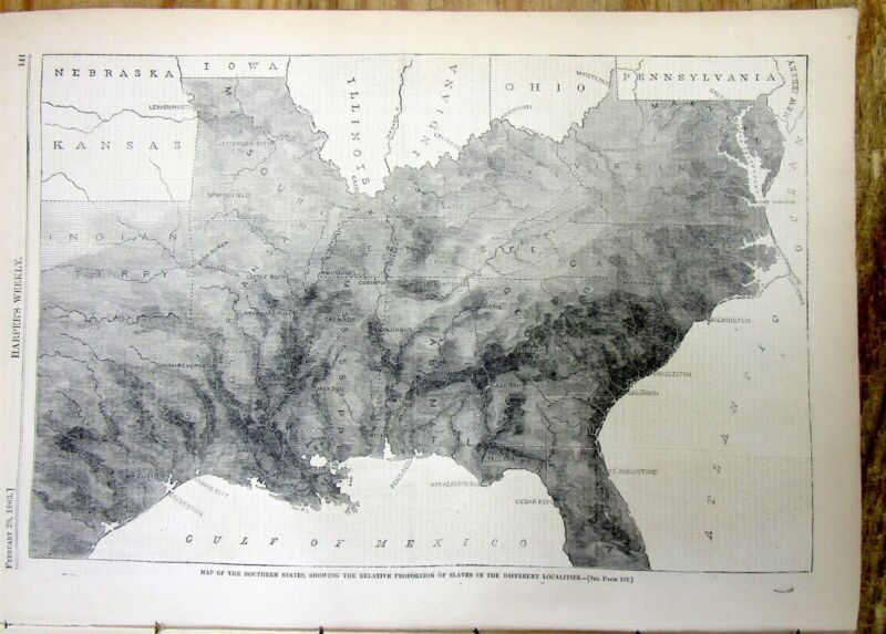 1863 illustrated Civil War newspaper w MAP of CONFEDERACY & homer Winslow Poster