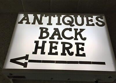 Vintage Lightbox Sign Antique Store Light Box Logan